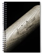 Ted Williams Little League Baseball Bat Bw Spiral Notebook