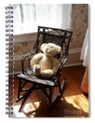 Teddy In Old Fashioned Rocker Spiral Notebook