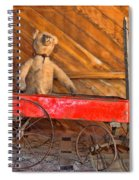 Teddy Takes A Ride Spiral Notebook