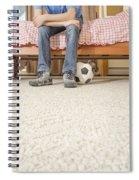 Teen Boy In Bedroom Spiral Notebook