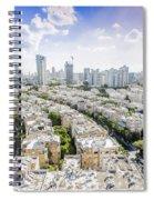 Tel Aviv Israel Elevated View Spiral Notebook