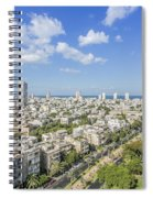 Tel Aviv Israel Elevated View Spiral Notebook