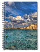 Tel Aviv Jaffa Shoreline Spiral Notebook