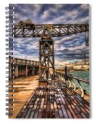 Tel Aviv Port At Winter Time Spiral Notebook