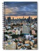Tel Aviv Skyline Winter Time Spiral Notebook