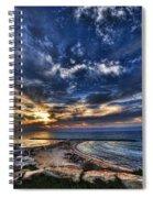 Tel Aviv Sunset At Hilton Beach Spiral Notebook