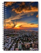 Tel Aviv Sunset Time Spiral Notebook