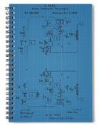 Telegraph Blueprint Patent Spiral Notebook