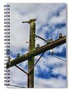 Telegraph Pole - Yesterdays Technology Spiral Notebook