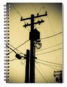 Telephone Pole 2 Spiral Notebook