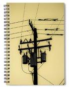 Telephone Pole 4 Spiral Notebook