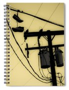 Telephone Pole And Sneakers 1 Spiral Notebook