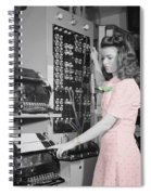 Teletype Girl Spiral Notebook
