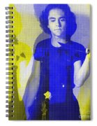 Teller / Early Shadows - Blue And Yellow  Spiral Notebook