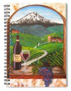 Temecula Red Spiral Notebook