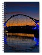 Tempe Town Lake At Sunset  Spiral Notebook
