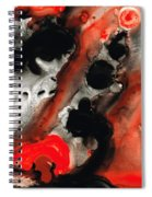 Tempest - Red And Black Painting Spiral Notebook
