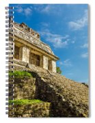 Temple And Blue Sky Spiral Notebook