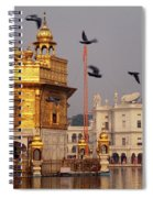 Temple At The Waterfront, Golden Spiral Notebook