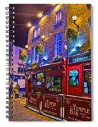 The Temple Bar Pub Dublin Ireland Spiral Notebook