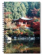 Temple Behind A Pond, Daigo-ji Temple Spiral Notebook