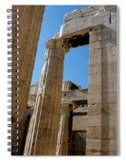 Temple Maze Of Columns Spiral Notebook