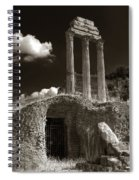 Temple Of Castor And Polux Spiral Notebook