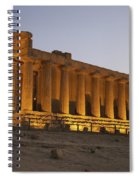 Temple Of Concordia In The Valley Of Spiral Notebook