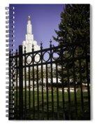 Temple Of Idaho Falls Spiral Notebook