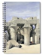 Temple On Nile Spiral Notebook