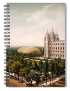 Temple Square Salt Lake City 1899 Spiral Notebook