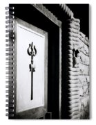 The Temple Trident Spiral Notebook
