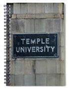 Temple U Spiral Notebook