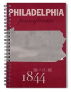 Temple University Owls Philadelphia Pennsylvania College Town State Map Poster Series No 103 Spiral Notebook