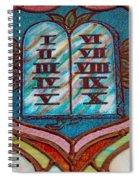 Ten Commandments Glass Spiral Notebook