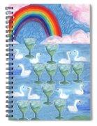 Ten Of Cups Spiral Notebook