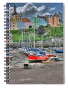 Tenby Harbour In Summer 4 Spiral Notebook