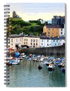 Tenby Harbour Panorama Spiral Notebook
