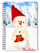 Tender Snowman Spiral Notebook