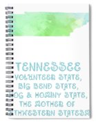 Tennessee - Volunteer State - Big Bend State - Hog And Hominy State Spiral Notebook