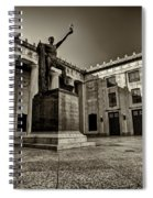 Tennessee War Memorial Black And White Spiral Notebook