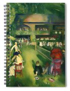 Tennis At Newport 1920 Spiral Notebook