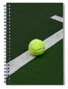 Tennis - The Baseline Spiral Notebook
