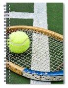 Tennis - Wooden Tennis Racquet Spiral Notebook