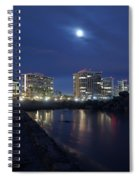 Tent City At Night Spiral Notebook