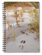 Tents At Yukon River In Remote Taiga Wilderness Spiral Notebook
