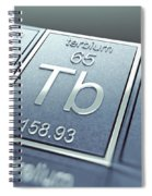 Terbium Chemical Element Spiral Notebook