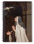 Teresa Of Avilas Vision Of A Dove Spiral Notebook