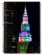 Terminal Tower Rainbow Spiral Notebook