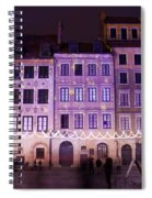 Terraced Historic Houses At Night In Warsaw Spiral Notebook